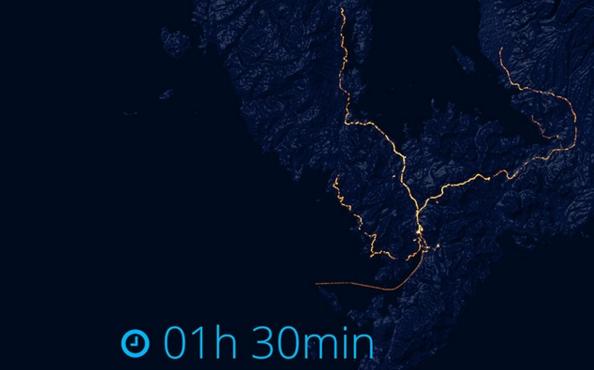 GPS追跡長崎移動軌跡