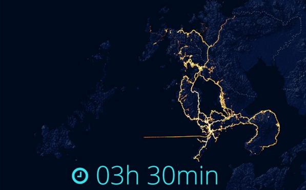 GPS追跡長崎移動軌跡2