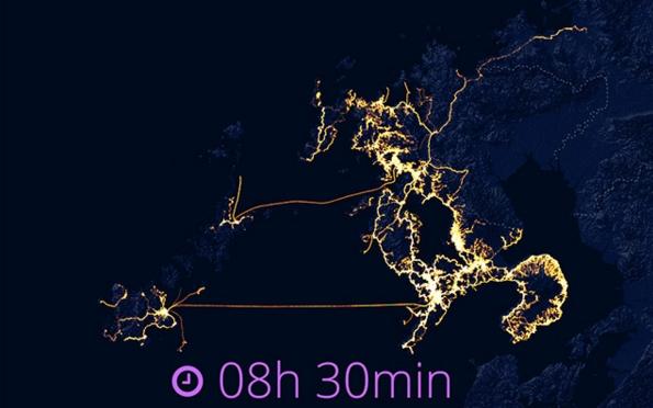 GPS追跡長崎移動軌跡3