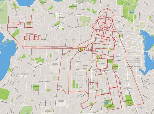 GPS追跡を使ったアートは誰にでもできる
