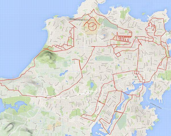 GPS追跡アートは健康にも非常に良い