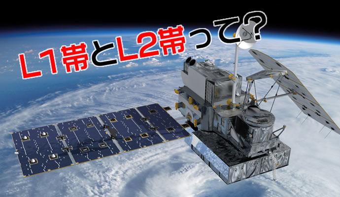 GPS電波の種類であるL1帯とL2帯